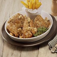Κοτόπουλο λεμονάτο με φέτα Χωριό και ρίγανη