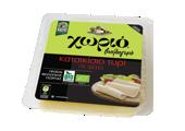 Χωριό βιολογικό κατσικίσιο τυρί σε φέτες