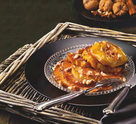 Σοτέ μήλα με βούτυρο και σάλτσα καραμέλας