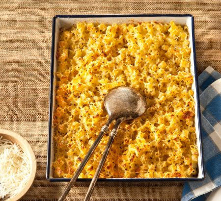 Oven-baked elbow pasta