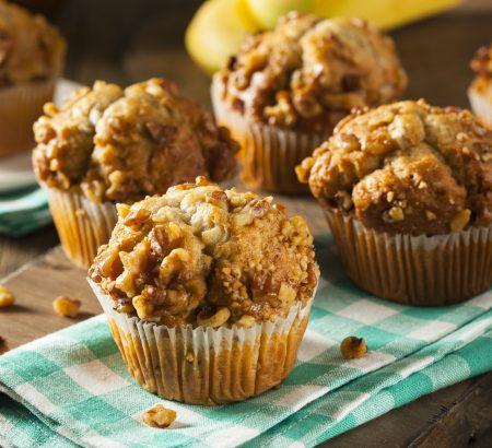 Banana-walnut & raisin muffin