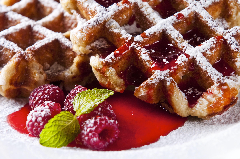 Multigrain Waffles with Seasonal Fruit
