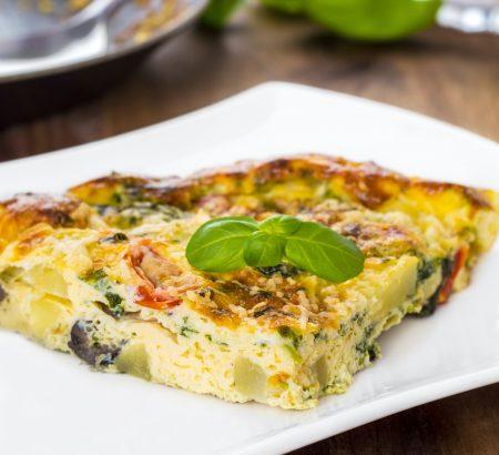 Oven Baked Vegetable Omelette