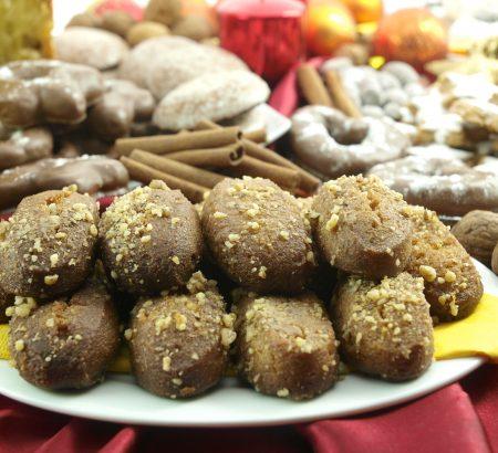 Traditional Greek Christmas Cookies with syrup (Μelomakarona)