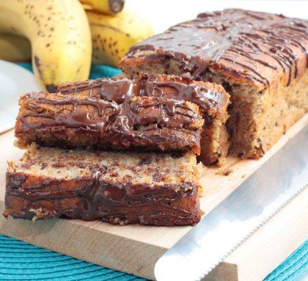 Σοκολατένιο κέικ με άρωμα μπανάνας