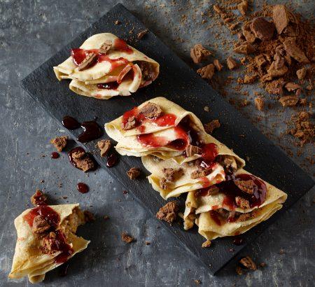 Κρέπες γλυκές με μπισκότο, μπανάνα και μαρμελάδα του Ηλία Μαμαλάκη