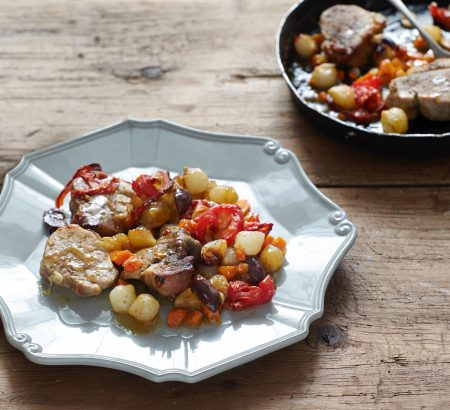 Spicy lamb with wine and honey sauce