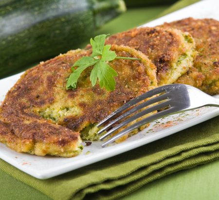 Fried zucchini with eggs
