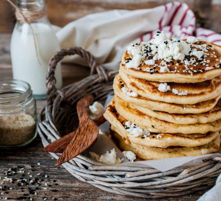 Savory Pancakes with Feta Cheese