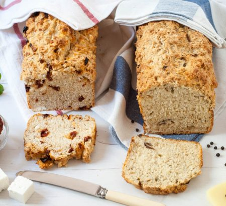 Beer Bread with Feta or Graviera Cheese