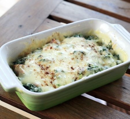 Chicken and Spinach Soufflé