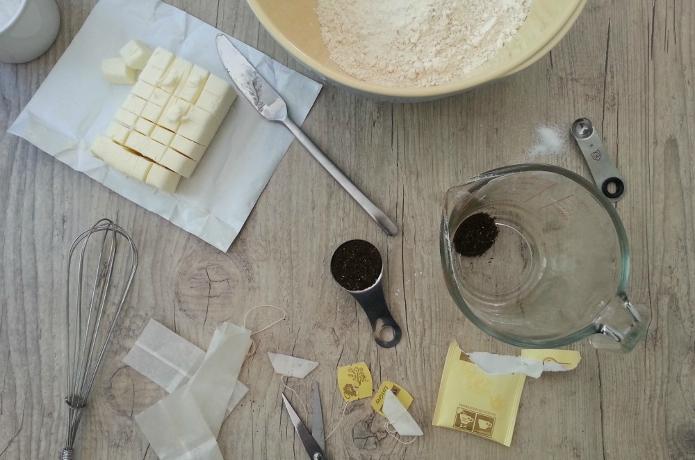 Μπισκότα Βουτύρου με άρωμα τσάι Earl Grey