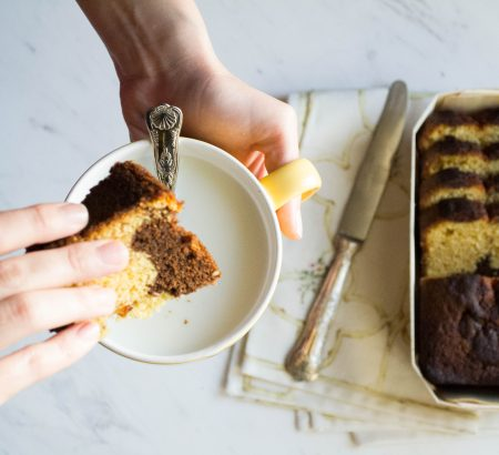 Κέικ μαρμπρέ με βούτυρο αγελάδος Χωριό