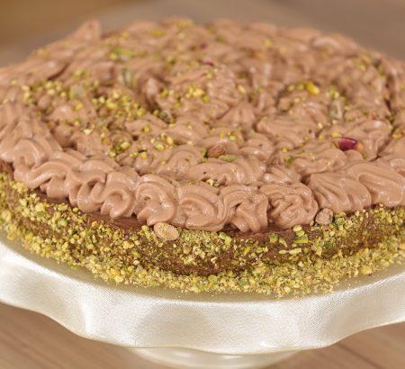Τούρτα κανταΐφι με κρέμα σοκολάτας