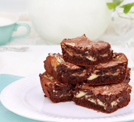 Cheesecake brownies μαρμπέ