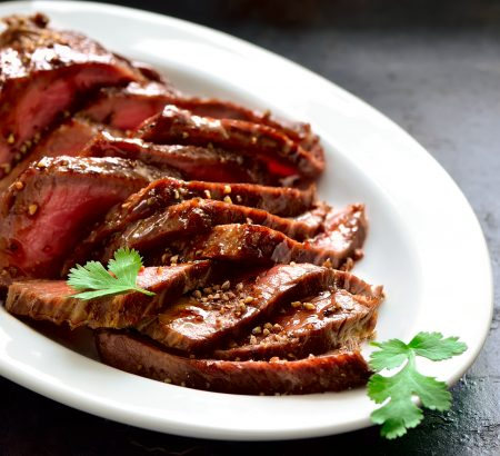 Beef fillet marinated in Balsamic Cream with mustard