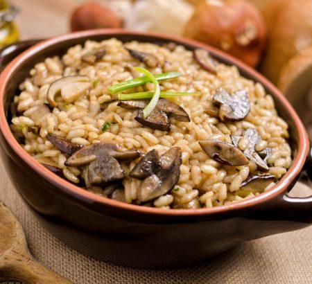 Mushroom risotto by Dimitris Skarmoutsos