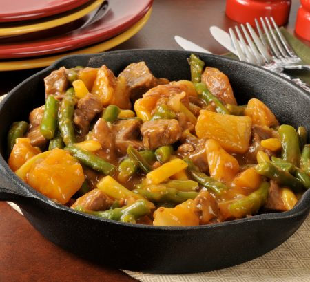 Beef stew with wine and vegetables