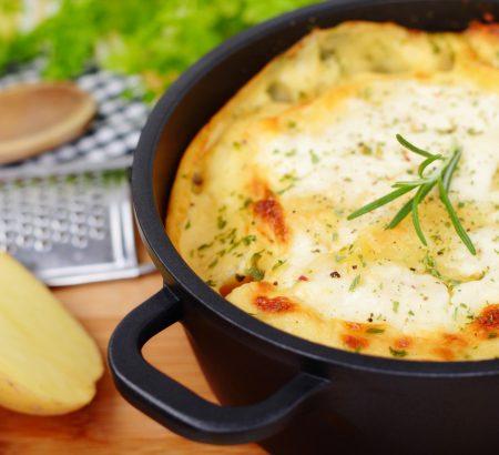Potato gratin with Horio Feta Cheese Mountain Regions